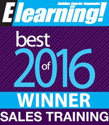 2016 Best of Elearning! Sales Training Winner
