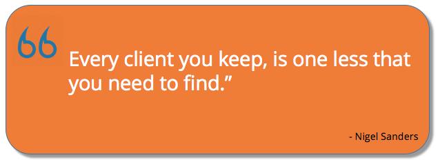 Nigel Sanders customer service quote