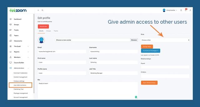 ej4 Thinkzoom Checklist - Admin Permissions