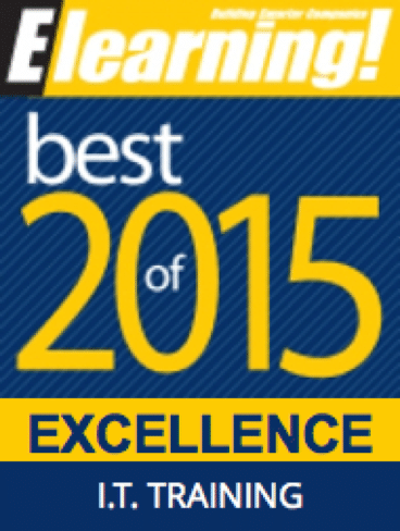 2015 Best of Elearning! Excellence in IT Training