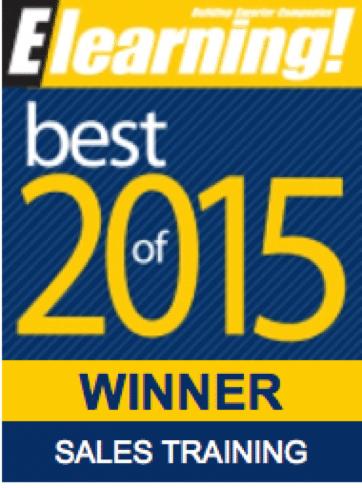 2015 Best of Elearning! Sales Training Winner