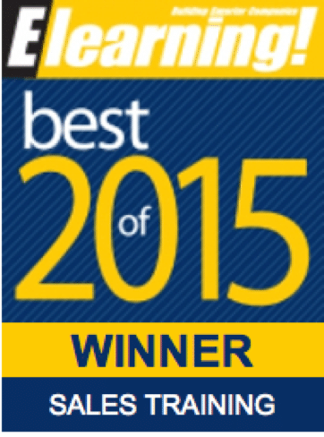 2015 Best of Elearning! Sales Training Winner