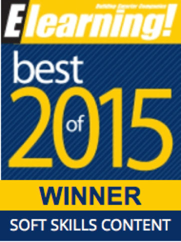 2015 Best of Elearning! Soft Skills Content Winner