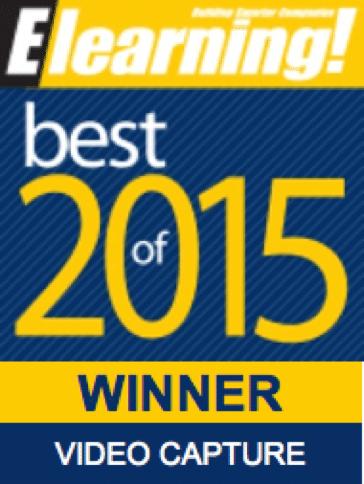 2015 Best of Elearning! Video Capture Winner