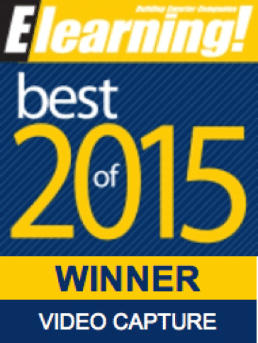 2015 Best of Elearning! Video Capture Winner