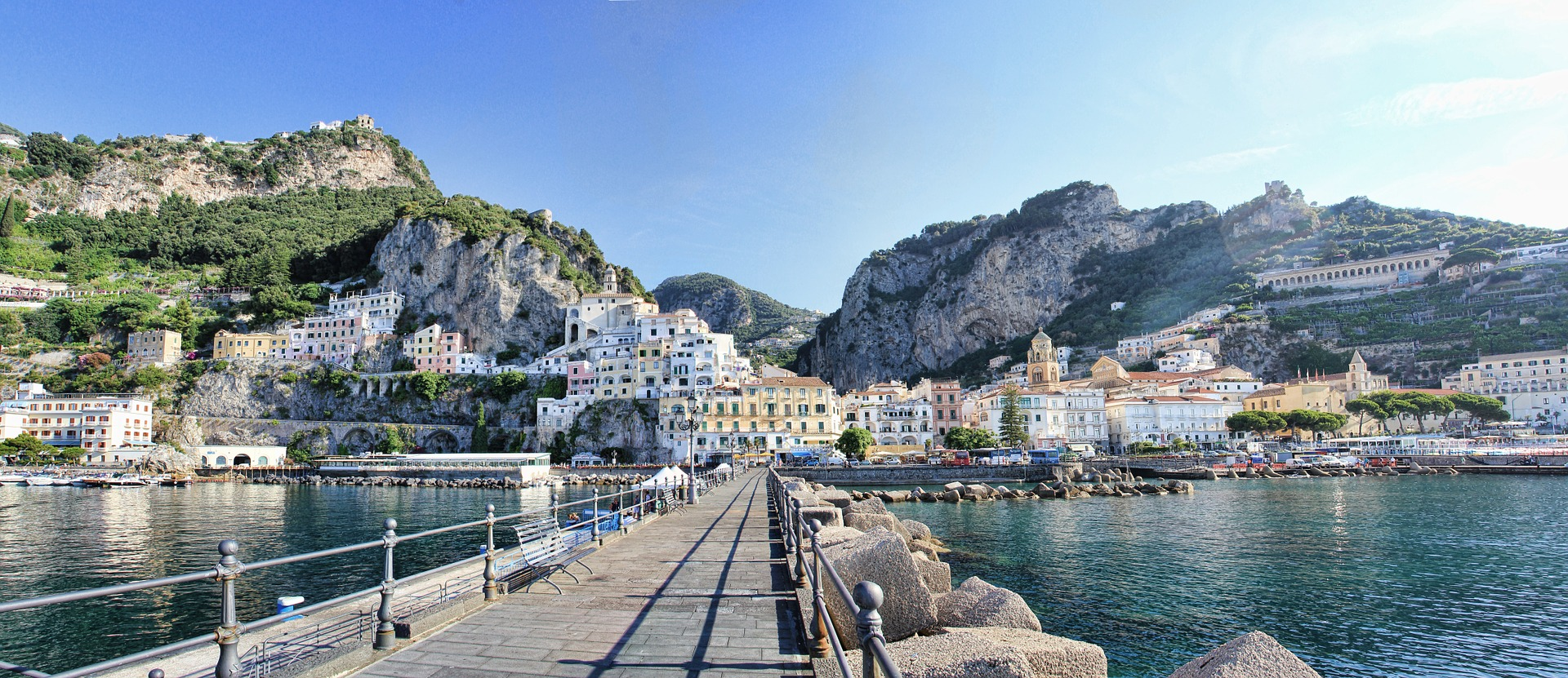 The Amalfi Coast is a great setting for a photobooth.