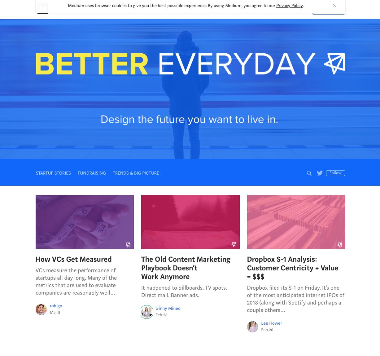 Better everyday sur Medium