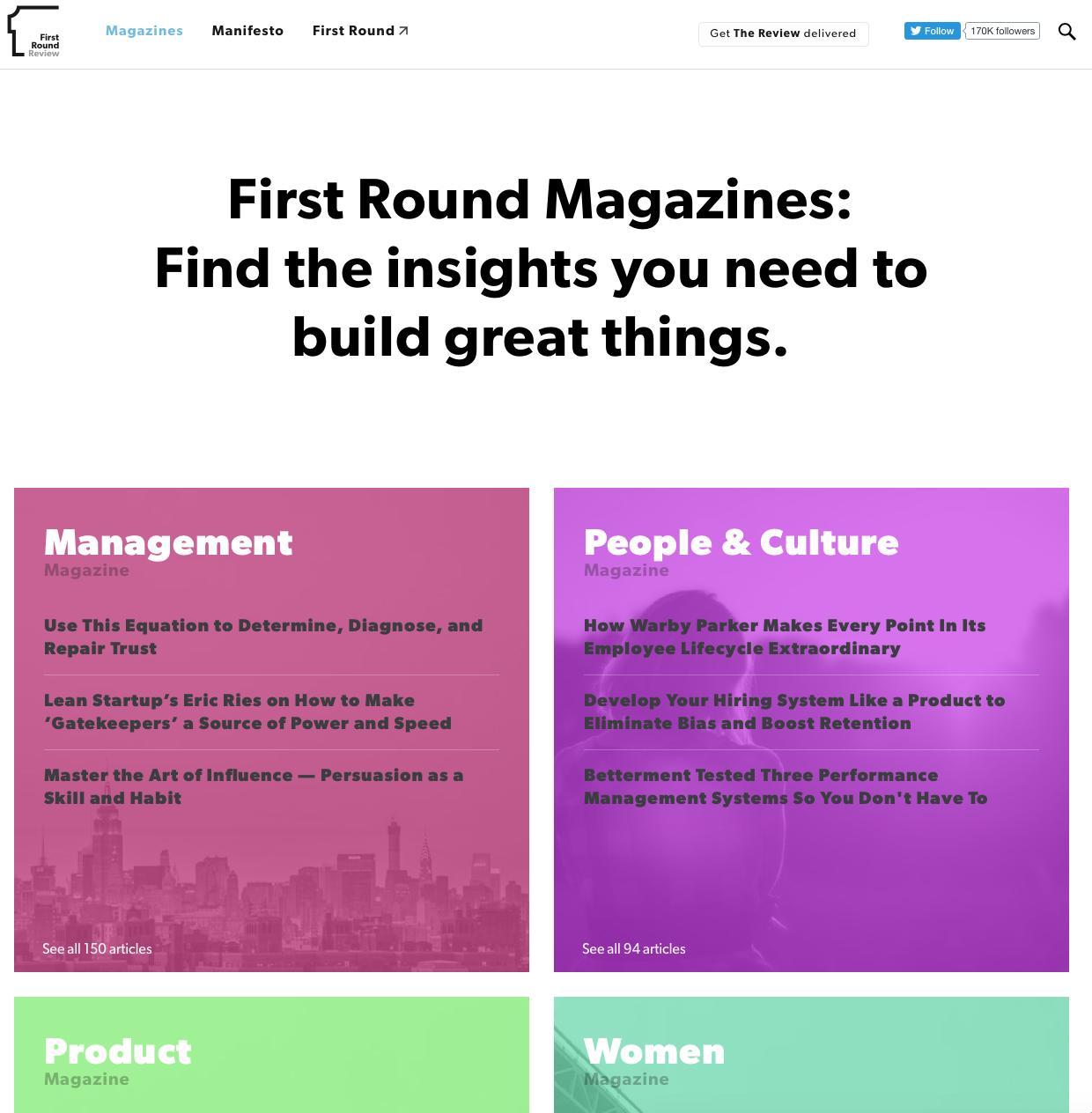First Round Magazines