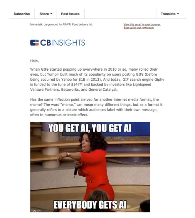 Newletter CB Insights