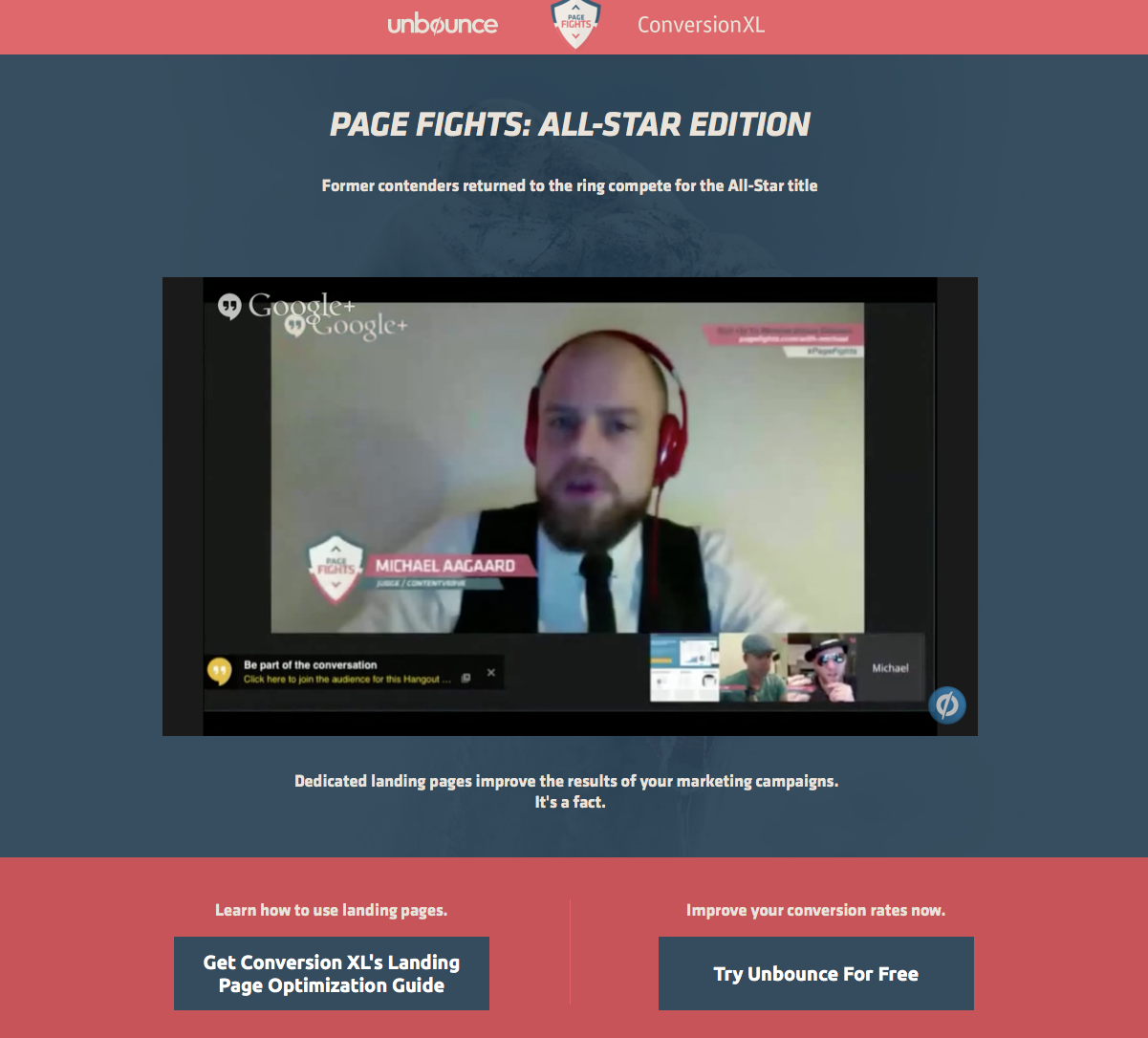 Page Fights Unbounce