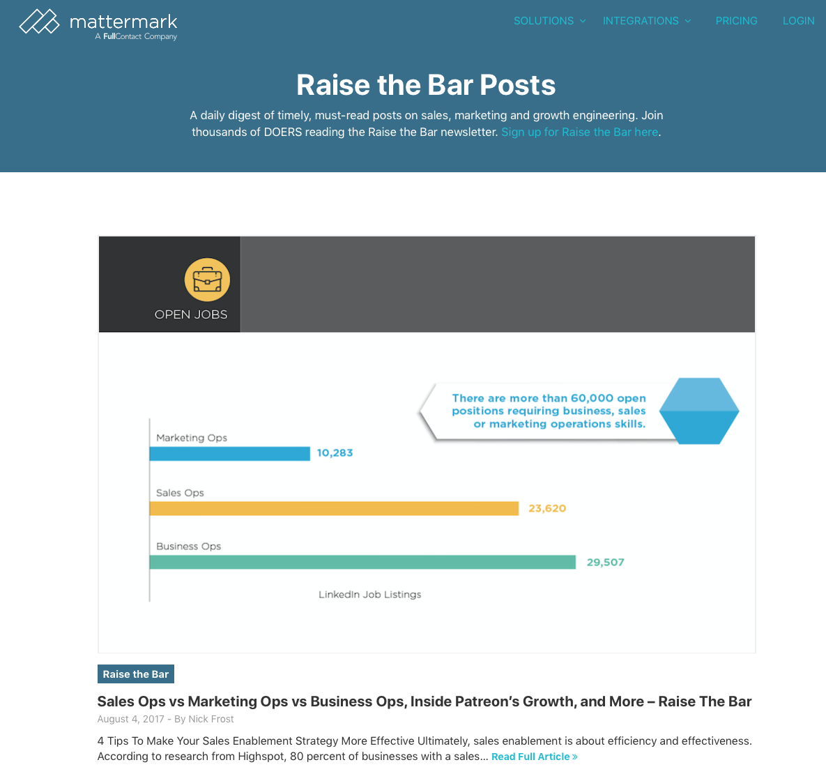 Raise the Bar by Mattermark