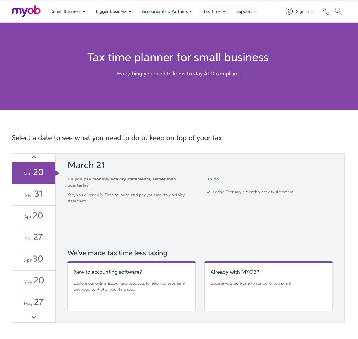 Tax Time MYOB