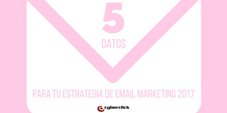 5 datos sobre email marketing para tu estrategia de 2017