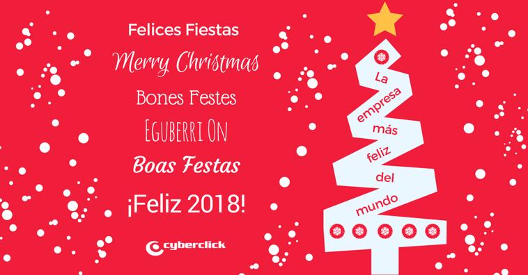 ¡Felices Fiestas con #ChristmasatCyberclick y Próspero 2018!