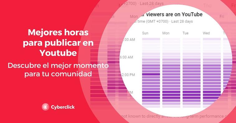 Mejores horas para publicar en YouTube