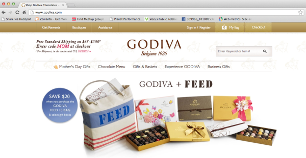 godiva website performance