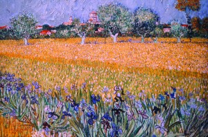 View of Arles with Irises in the Foreground. 1888.