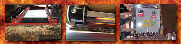 conveyor belt heaters