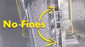 MS612 screen feed showing fines have been removed