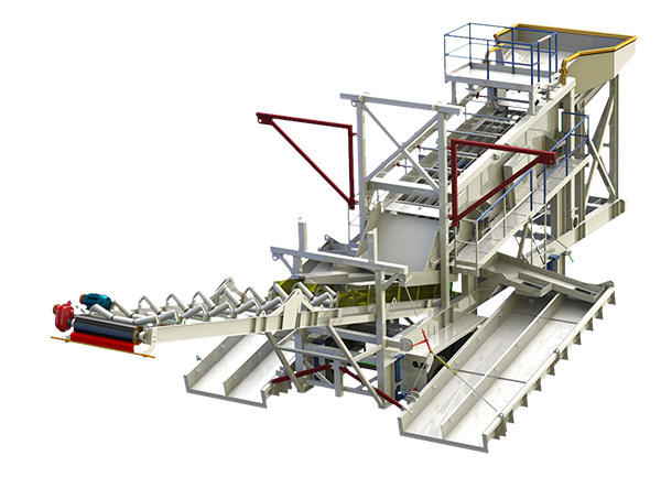 placer-mining screen plant