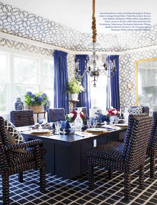 Best of veranda july august 2014 7 rooms with decorative rugs - Veranda dining rooms ...