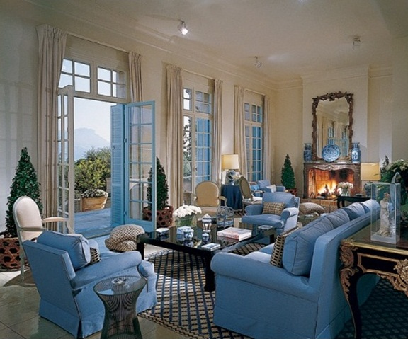 5 design tips how to make interiors with blue rugs warm for Billy baldwin interior designer