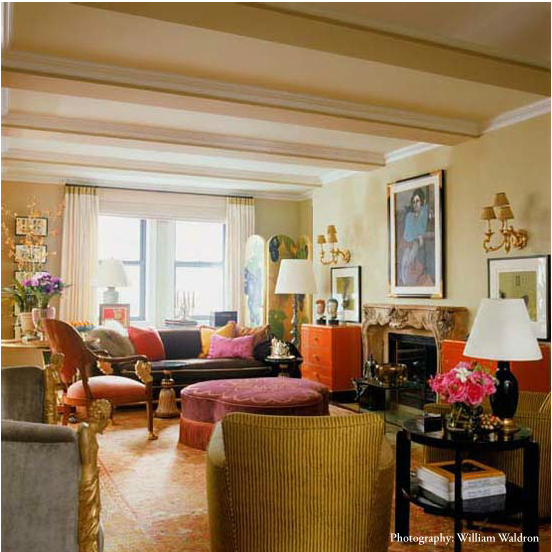 Jamie Drake S Romance With Coral Oushak Rugs Amp Bold Color