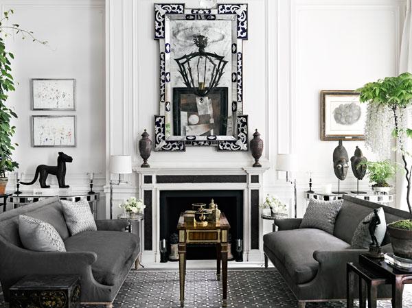 The decorating flexibility of grey geometric rugs 10 chic for Harry slatkin east hampton