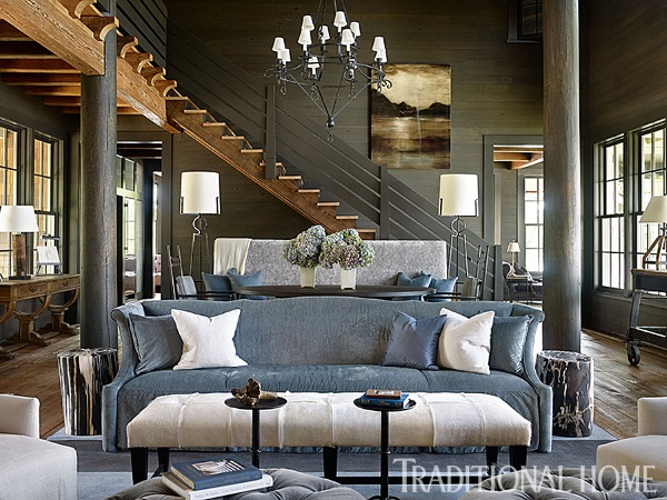 Traditional home october 2014 5 best rooms with for Lake house interior designs