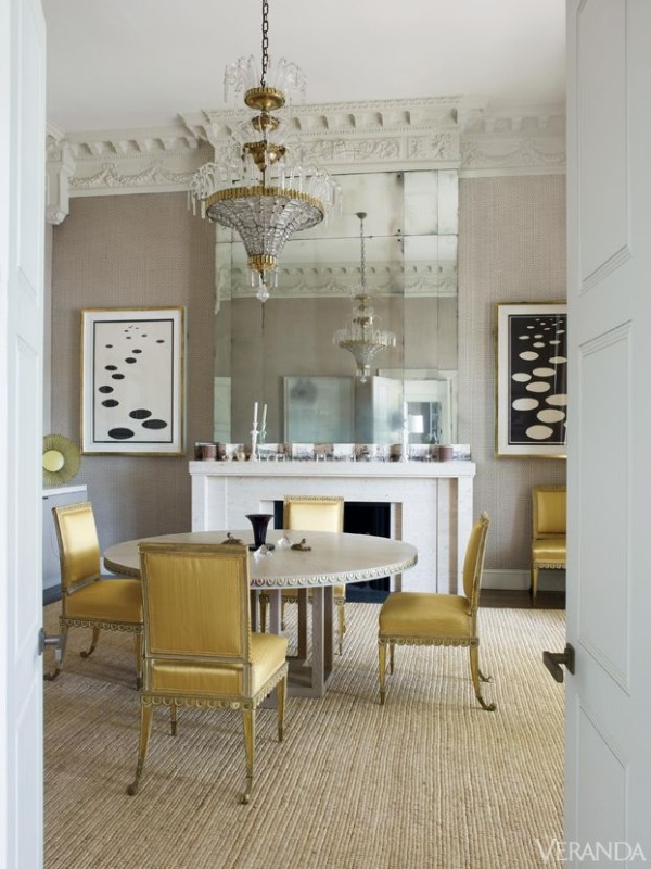 taupe rug grey rug contemporary rug dining room london veere grenney