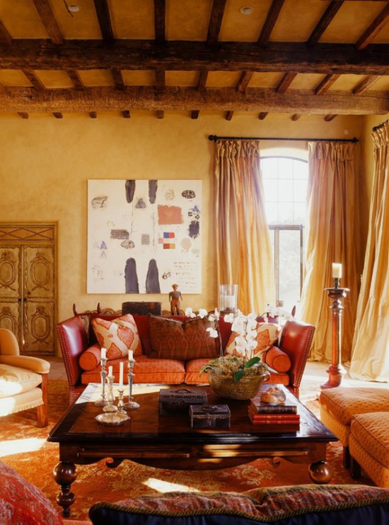 Orange Rugs Bring Fall Colors And Chic Look To Interiors