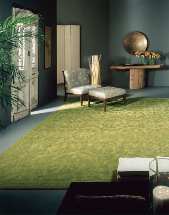 14 gorgeous rooms how to decorate with green and green rugs