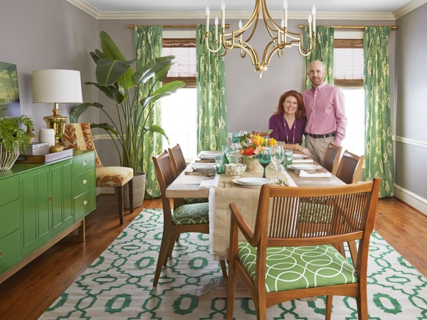 14 Gorgeous Rooms: How to Decorate with Green and Green Rugs