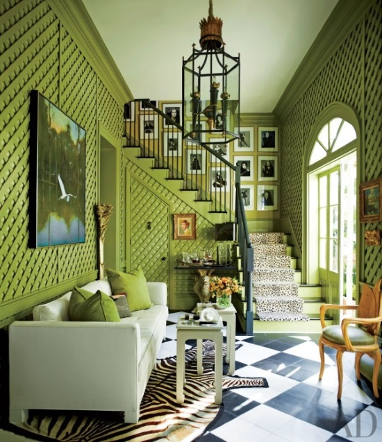 Green Rug For Living Room: 14 Gorgeous Rooms: How To Decorate With Green And Green Rugs