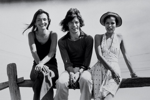 Radziwill_with_Mick_and_Bianca_Jagger_in_in_1972_in_Montauk,_NY.
