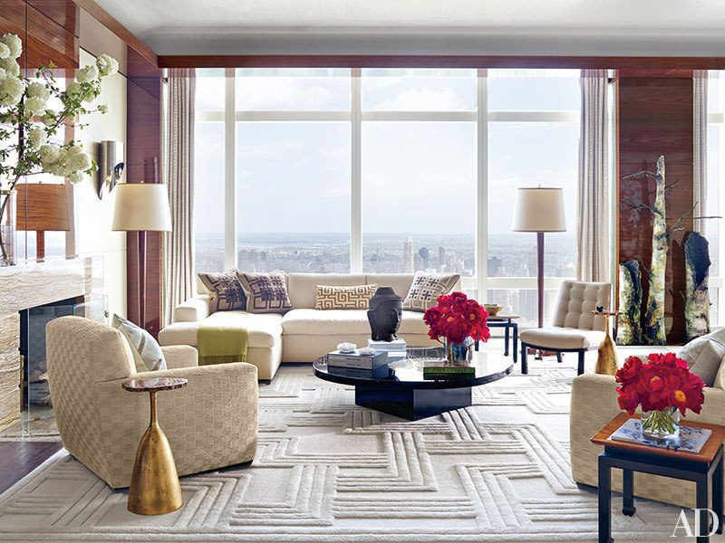 Architectural Digest March 2015: 9 Best Rooms with Decorative Rugs