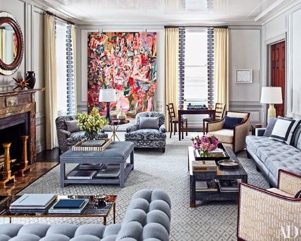 Architectural digest february 2015 7 best rooms with for Top interior design blogs 2015