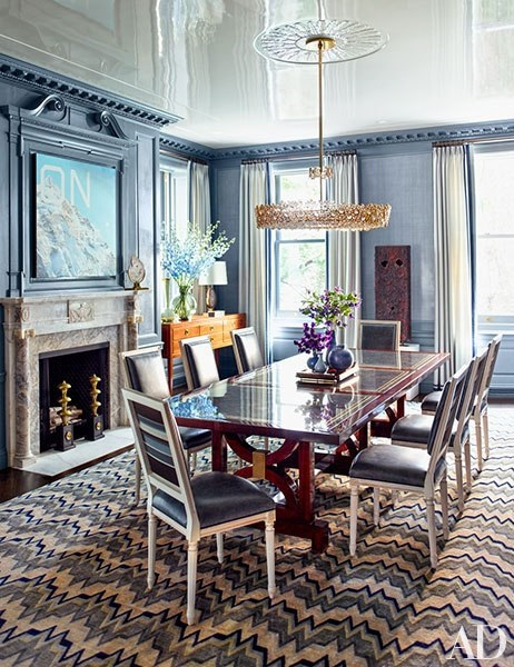 architectural digest dining rooms | Architectural Digest February 2015: 7 Best Rooms with ...
