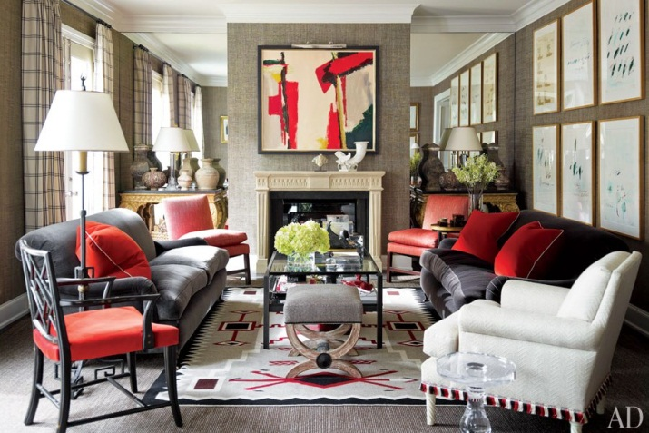 How to Design Cozy Glamor with Red Rugs: 12 Chic Interiors