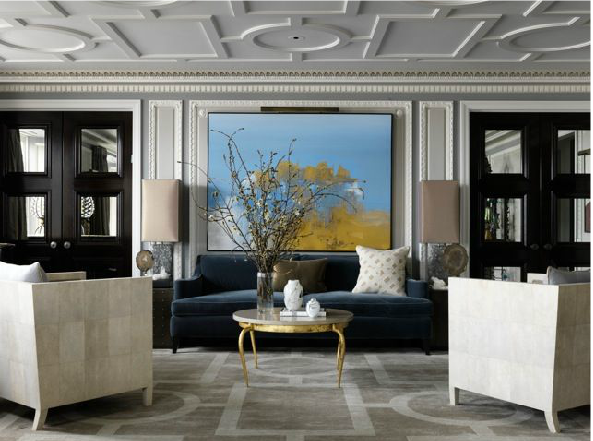 The decorating flexibility of grey geometric rugs 10 chic for Living room 8 place jean rey