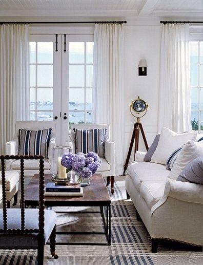 10 Fabulous Nantucket Blue And White Interiors With