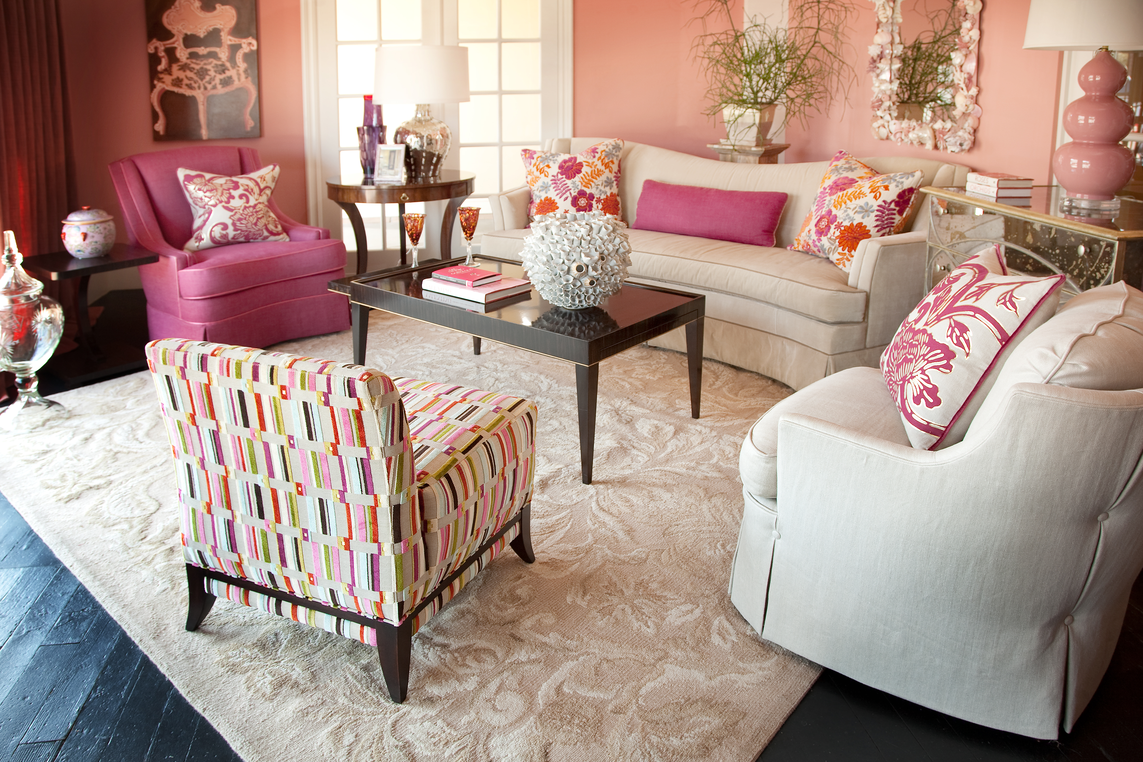 10 Amazing Pink Living Room Interior Design Ideas ...