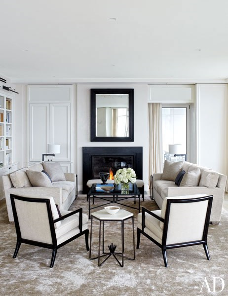 7 Top Designers Use Damask Rugs To Warm Up Contemporary
