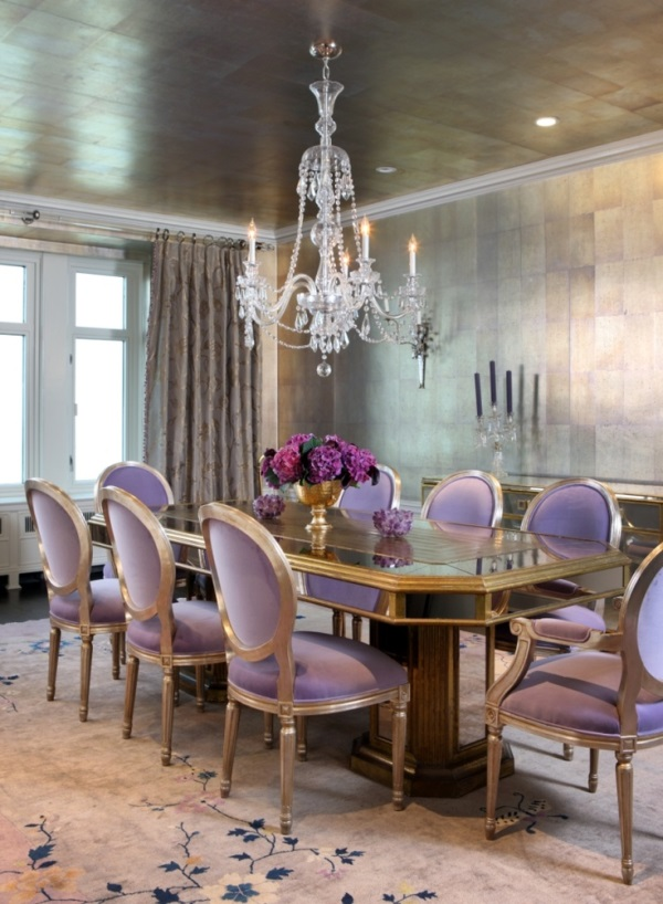 4 Glamorous Dining Rooms With Metallic Accents And