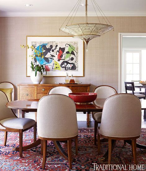Rug In Dining Room: 4 Rooms Add Glamor And Warmth To Holidays With Decorative Rugs