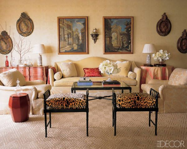 14 Gorgeous Interiors How To Pair Bold Colors With Red Black Beige Living  Room Part 11