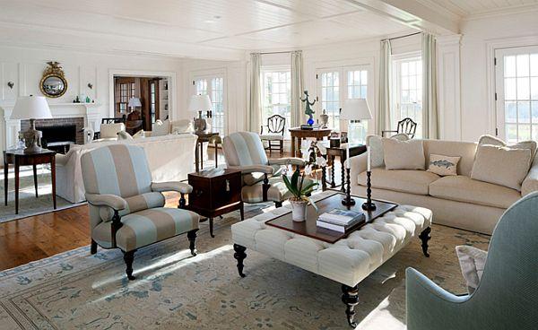 10 Chic Martha S Vineyard Blue And White Interiors With