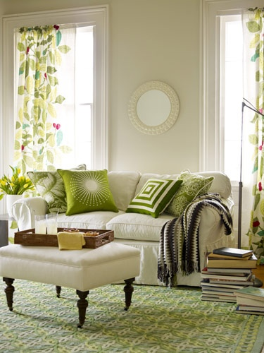 green cream living room green rugs bring in nature s fresh energy 5 chic interiors 13875