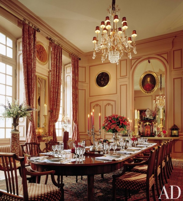 Dining Rooms From The Orient: How To Transform A French Château With Oriental Rugs: 28