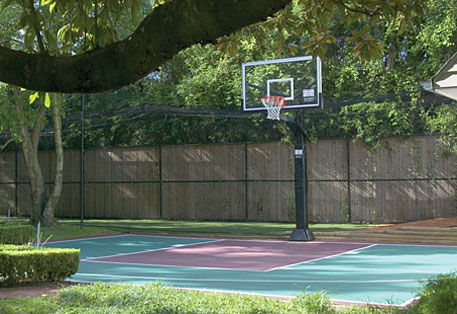 Basketball court backyard pro slam systems sport court for Sports courts for backyards